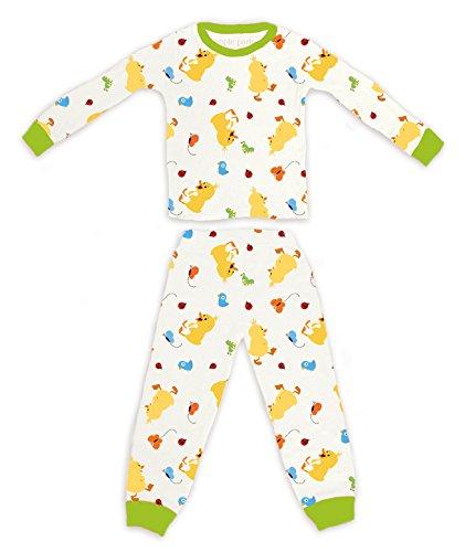 Apple Organic Cotton (Apple Park Organic Picnic Pal Organic Cotton Pajamas - Ducky, 18-24 Months)