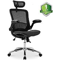 Romatlink Ergonomic Height Adjustable/Breathable Home Desk Office Chair (Black/Mesh)