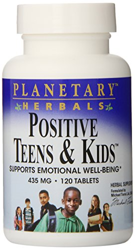 Planetary Herbals Positive Teens & Kids 435mg, Supports Emotional Well-Being,120 Tablets