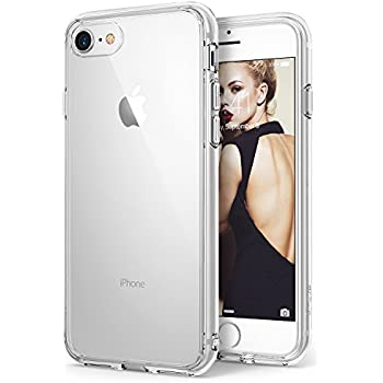 Apple iPhone 8 Case Ringke [FUSION] Crystal Clear Minimalist Transparent PC Back TPU Bumper [Drop Protection] Scratch Resistant Natural Shape Protective Cover for iPhone 8 - Clear