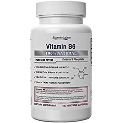 Superior Labs - Best Vitamin B6 Dietary Supplement - 50 mg Dosage,120 Vegetable Capsules -Supports Immune System Health - Healthy Brain Function - Cardiovascular Health Support