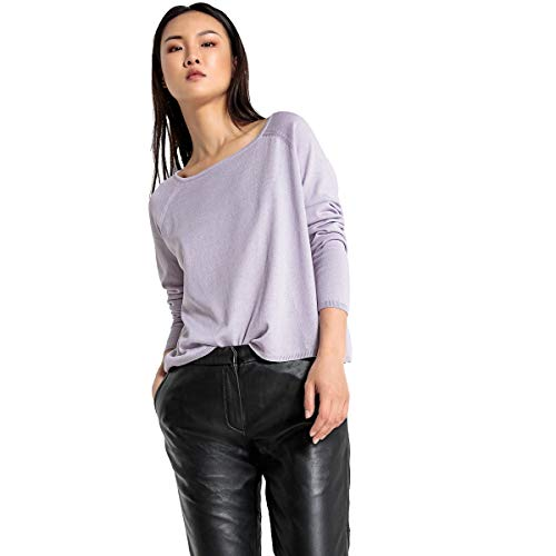 La Redoute Collections Womens Boxy Boat Neck Jumper/Sweater Purple Size M -