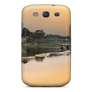 New XHcX1239 Sunset On A River In India Skin Case Cover Shatterproof Case For Galaxy S3
