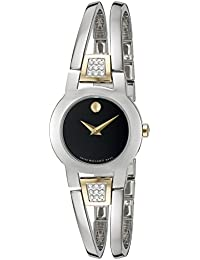 Womens Swiss Quartz Stainless Steel Casual Watch (Model: 0606894)