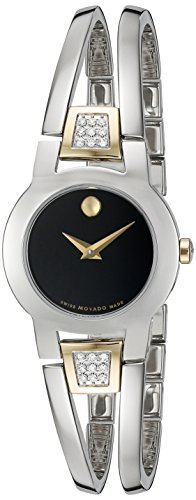 [Movado Women's Swiss Quartz Stainless Steel Casual Watch (Model: 0606894)] (Movado Bangle Watch)