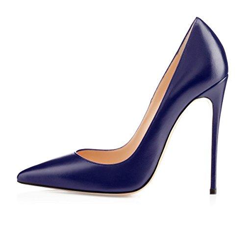 Scarpe Eleganti col Donna Scarpe Chiuse Donna Donna Scarpe Soireelady Tacco da blu 650cqxIcUw