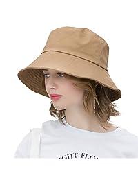 AMAKU Bucket Hats Cotton Packable UV Protection Sun Hats Summer Beach Hats for Women