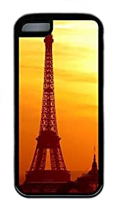 for ipod Touch 4 Case Eiffel Tower Landscape Designs TPU Custom for ipod Touch 4 Case Cover Black