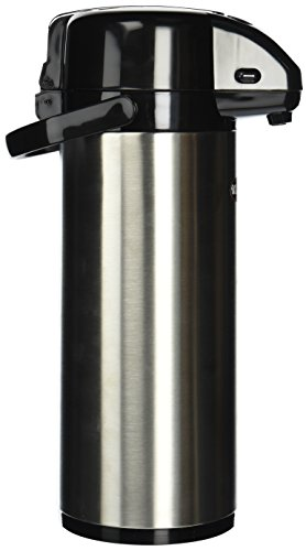 Winco Stainless Steel Lined Airpot, 3-Liter, Lever Top ()
