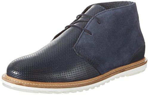 Bianco Perforated Boot Jfm17 - Botas de Piel para hombre, color Azul (Navy Blue)