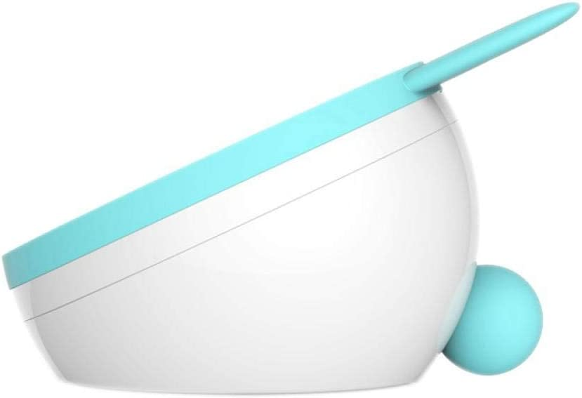 Bmstjk Espejo de Maquillaje, Elegante Espejo de Maquillaje para Mascotas Lindo con luz, Lindo con Almacenamiento Espejo de vanidad multifunción Espejo de Carga LED, Orejas de Gato Azul