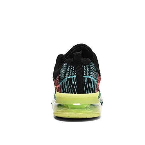 ECOTISH Laufschuhe Turnschuhe Straßenlaufschuhe Sneaker mit Snake Herren Sportschuhe (EU39, Schwarz)