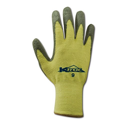 Magid Glove & Safety KEV8627-6 K-ROC KEV8627 Para-Aramid PU Palm Coated Gloves, Cut Level 4, Size 6, Yellow (Pack of 12) by Magid Glove & Safety (Image #1)