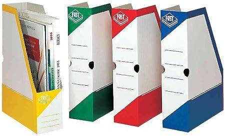 Fast 4840AX25 - Caja de revistero de cartón, 80 mm, azul: Amazon ...