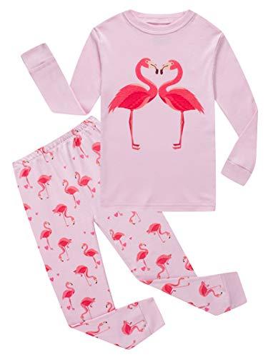 Flamingo Big Kids & Toddler Girls Pajamas 2 Piece Pjs Set 100% Cotton Sleepwear 8