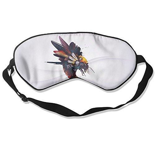 Silk Sleeping Mask Eye Mech Bee Lightweight Soft Adjustable Strap Blindfold For Night's Sleep Nap Travel Eyeshade Men And Women