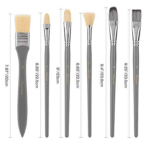 Art Paint Brushes Set 15 Sizes Painting Brush Kit Professional for Acrylic Watercolor Oil Gouache and Canvas Painting 16PCS with Pop-up Carrying case for Kids, Adults, Artists