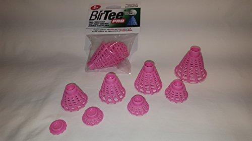 BirTee Pro Winter/Mat Golf Tees - 8 Pack (Bright Pink)