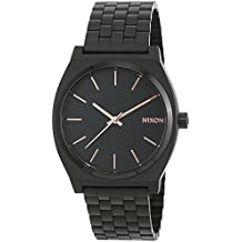 Nixon Time Teller Watch - All Black / Rose Gold