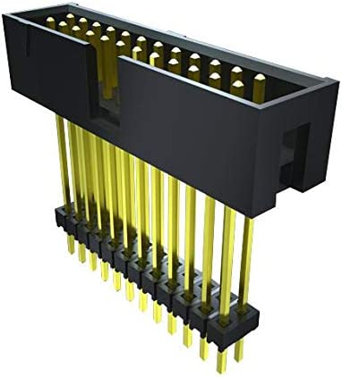Board-To-Board Connector ZST Series ZST-110-04-T-D-840 Pack of 20 Header Through Hole 2 Rows, 2.54 mm 20 Contacts