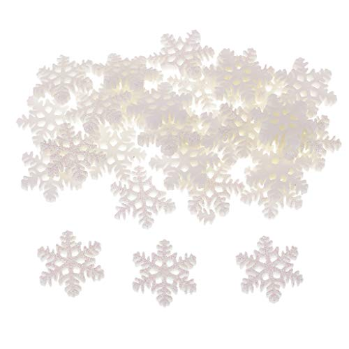 Fityle 30 Pieces Christmas Snowflake Resin Flatback Charms Scrapbook Embellishment for DIY Craft Card Making Phone Case Decoration 19mm