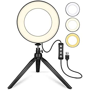 fannay Dimmable Studio Photo Video Live Lamp Phone LED Ring Fill Light On-Camera Video Lights