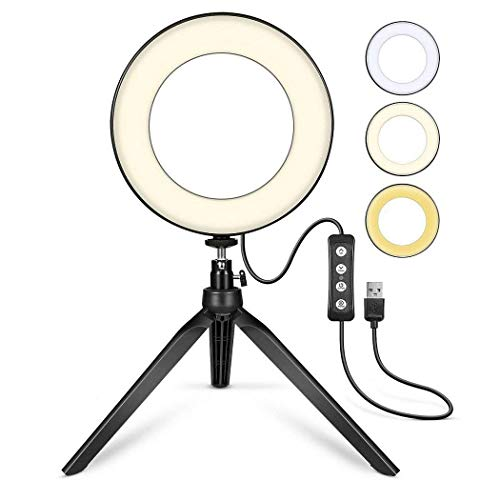 Breven Broadcast Live Photography Fill Light LED Camera Phone Flash Dimmable Light 3-Way Fill Light Mode for All Type Phone