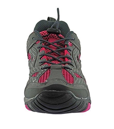 Rockin Footwear Women's Amphibious Athletic Hiking Swimming Water Shoe Aqua Sneaker, Pink, 7 B(M) US