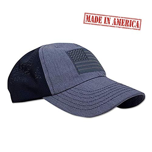 Red White Blue Apparel American Flag Range Unstructured Range Day Mesh Back Hat Heather Gray Black