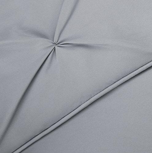 AmazonBasics Pinch Pleat Set Twin, Grey