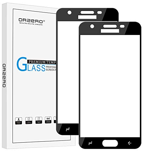 [2 Pack] Orzero for Samsung Galaxy J3 Star 2018 / J3 2018 / Amp Prime 3 (ONLY FIT for 2018 Version) J337T(T-Mobile) Tempered Glass Screen Protector, 2.5D Arc Edges [Lifetime Replacement Warranty]