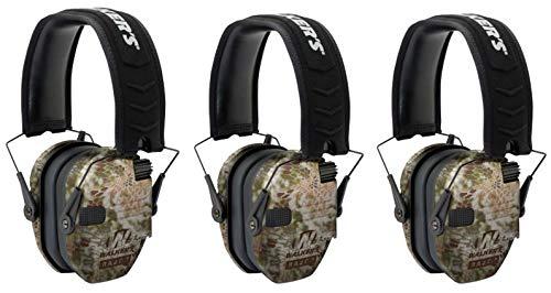 Walkers Razor Slim Electronic Shooting Muffs 3-Pack, Kryptek Camo (2 Items) by Walker's Game Ear