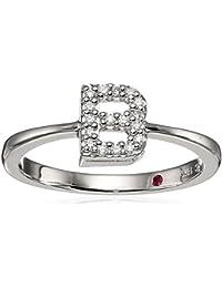 Womens Tiny Treasure Initial B Love Letter Ring