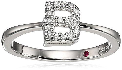 Roberto Coin Women's 001634AWLRXB Diamond Initial Ring, White, Size 7