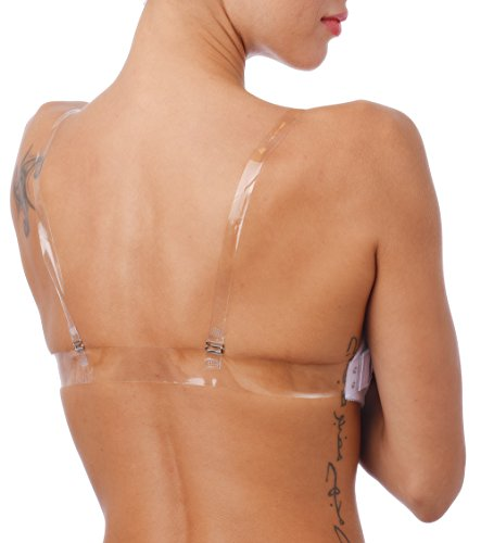 3419026c90 Clear Back Push Up Bra Invisible Straps and Standard Straps Lightly ...