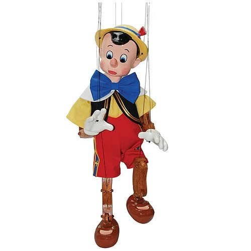 Walt Disney Pinocchio Marionette Hand-Painted Limited Edition Puppet (Out of Production) (Pinocchio Marionette)
