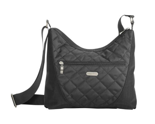 Baggallini Luggage Drifter Quilted Handbag, Charcoal, One Size, Bags Central