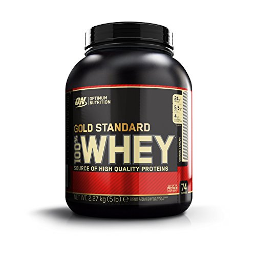 Optimum Nutrition Gold Standard 100% Whey Protein Powder, Cookies and Cream, 5 -