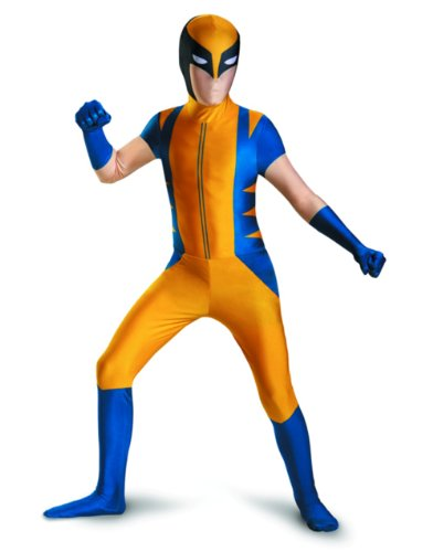Disguise Marvel The Wolverine Bodysuit Mens Adult Costume, Yellow/Blue, Medium/38-40