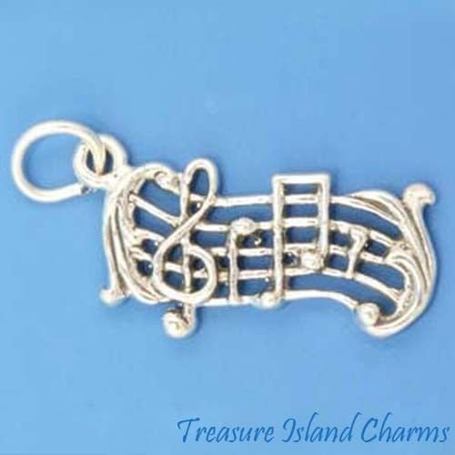 sical Treble Clef and Notes .925 Sterling Silver Charm Ideal Gifts, Pendant, Charms, DIY Crafting, Gift Set from Heart by Wholesale Charms ()