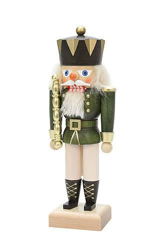 German Christmas Nutcracker King Green - 27cm / 11 inch - Christian Ulbricht