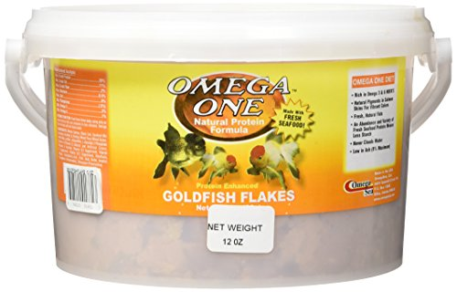 Omega One Goldfish Flakes Fish Food 12 (Goldfish Aquatic Flake)