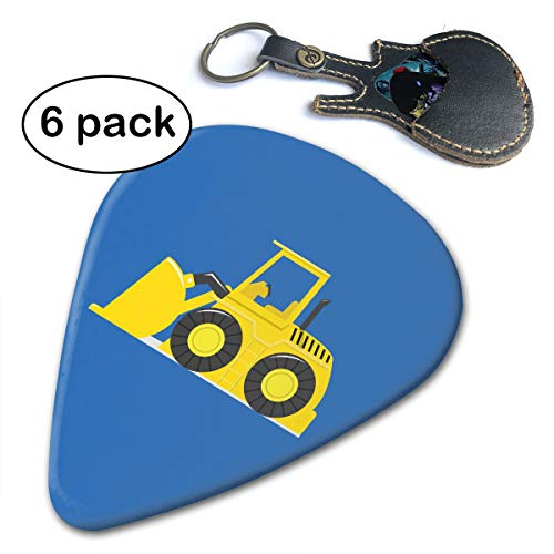 ABE Tractor 351 Shape Classic Guitar Picks - 6 Pack- for Electric Guitar, Acoustic Guitar, Mandolin, and Bass (Thin, Medium, - Tailor Tractor