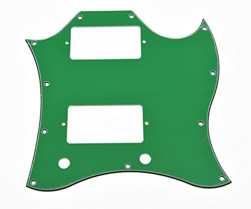 KAISH American Standard SG Guitar Full Face Pickguard fits USA Gibson SG Special Guitar Green 3 Ply (Sg Gibson Green)