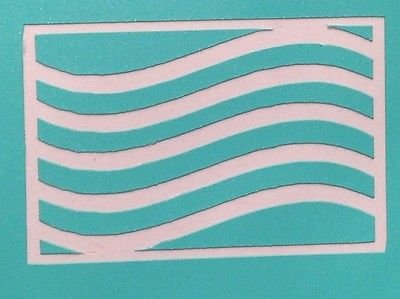 Wavy Stripes Vinyl Nail Guides - Stencil, Masks, Flag, 4th of July, Memorial Day (Mask Paint Stripes)