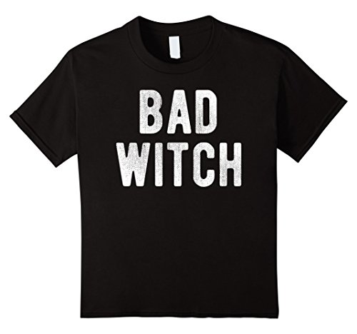 [Kids Bad Witch (Good Witch) Matching Best Friends Costume T-Shirt 8 Black] (Good Witch And Bad Witch Costumes)