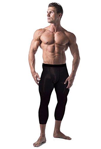 Copper Compression Mens 3/4 Capri Pants. Leggings, Tights, Capris, Pant for Men