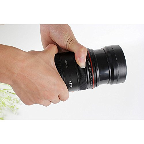 Funny Gadgets OUOH 24-70mm Zoomble Camera Lens Cup Travel Mug, 11oz