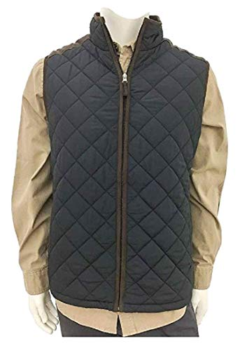 - Coleman Men's Quilted Vest With Faux Suede Trim (Black, Small)