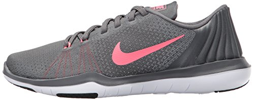 NIKE Womens Flex Supreme TR 5 Wide Shoes Grey HOT Punch White Black Size 8 by NIKE (Image #5)